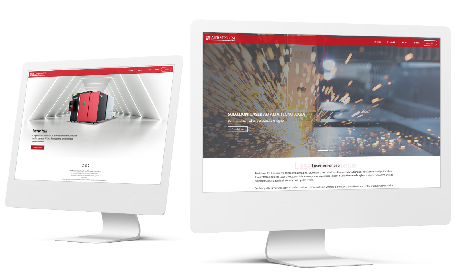 Sito web Verona - Sito web responsive Laser Veronese   OIS