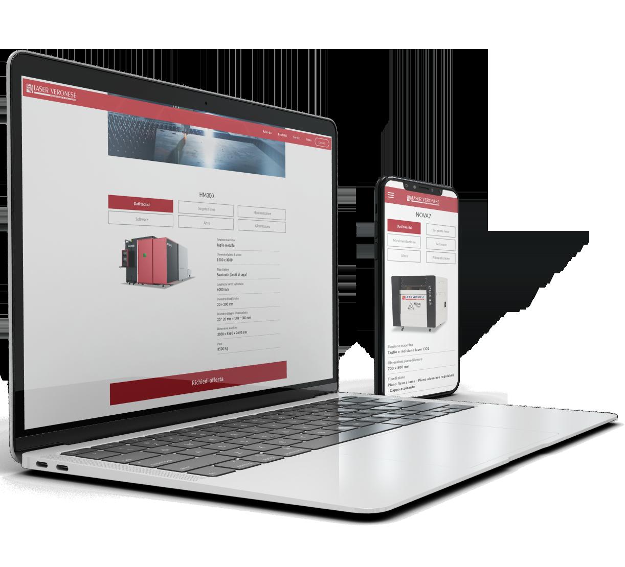 Sito web responsive Verona - Laser Veronese   OIS