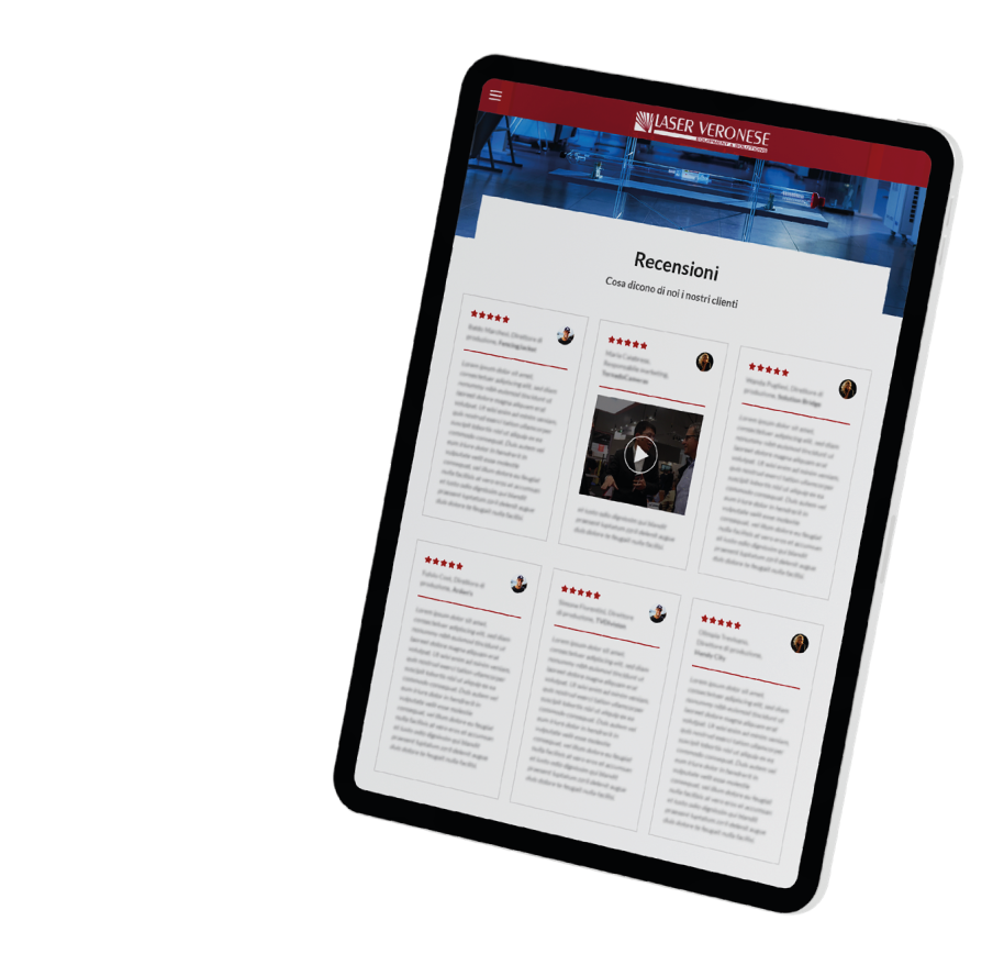Siti web Verona - Area recensioni - Laser Veronese   OIS