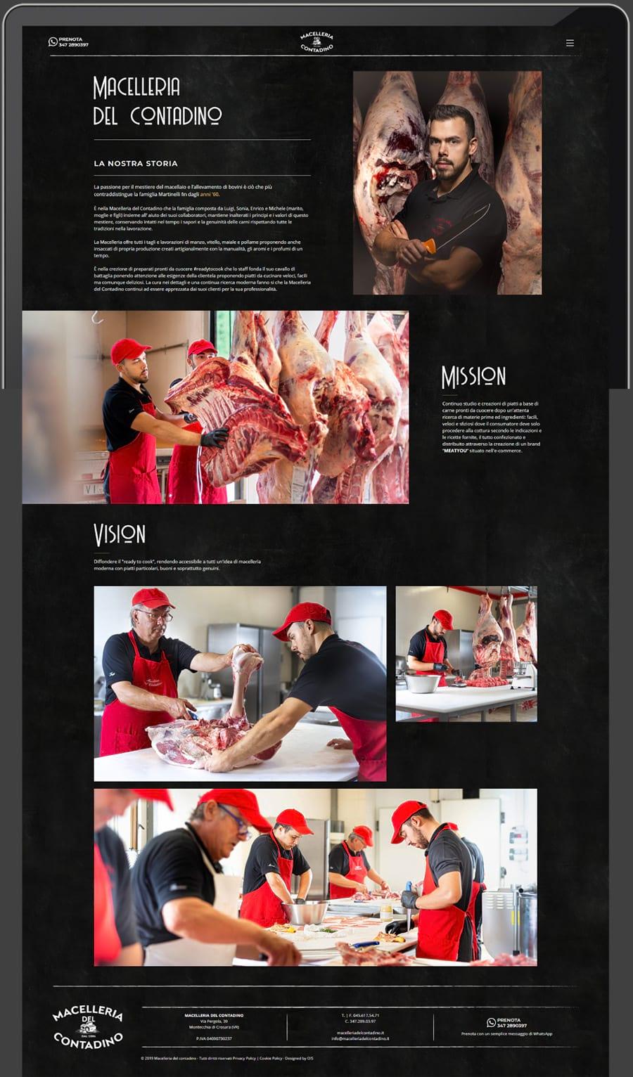 Siti web Verona - Web Design, Web Development - Macelleria del Contadino | OIS
