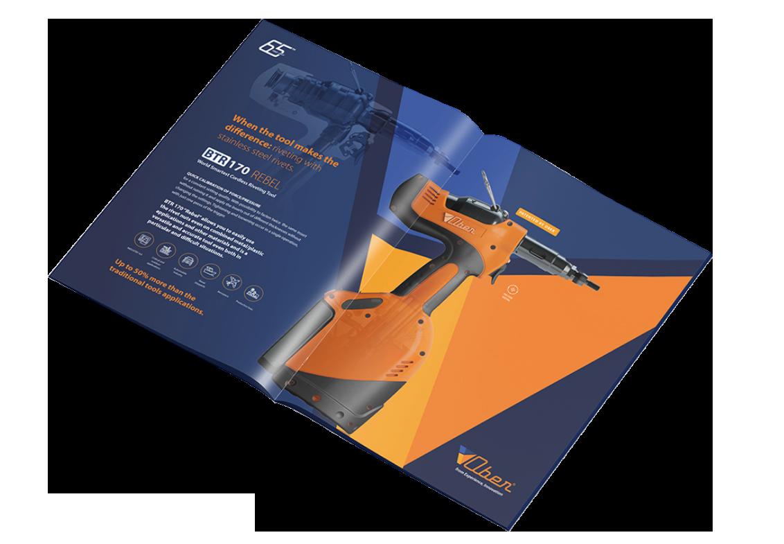 Studio grafica Verona - Progettazione grafica brochure - Ober S.p.a | OIS