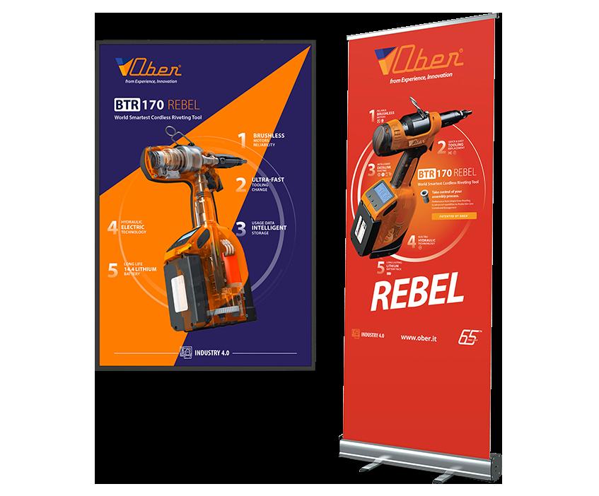 Studio grafica Verona - Progettazione di manifesti, roll-up e banner - Ober S.p.a | OIS