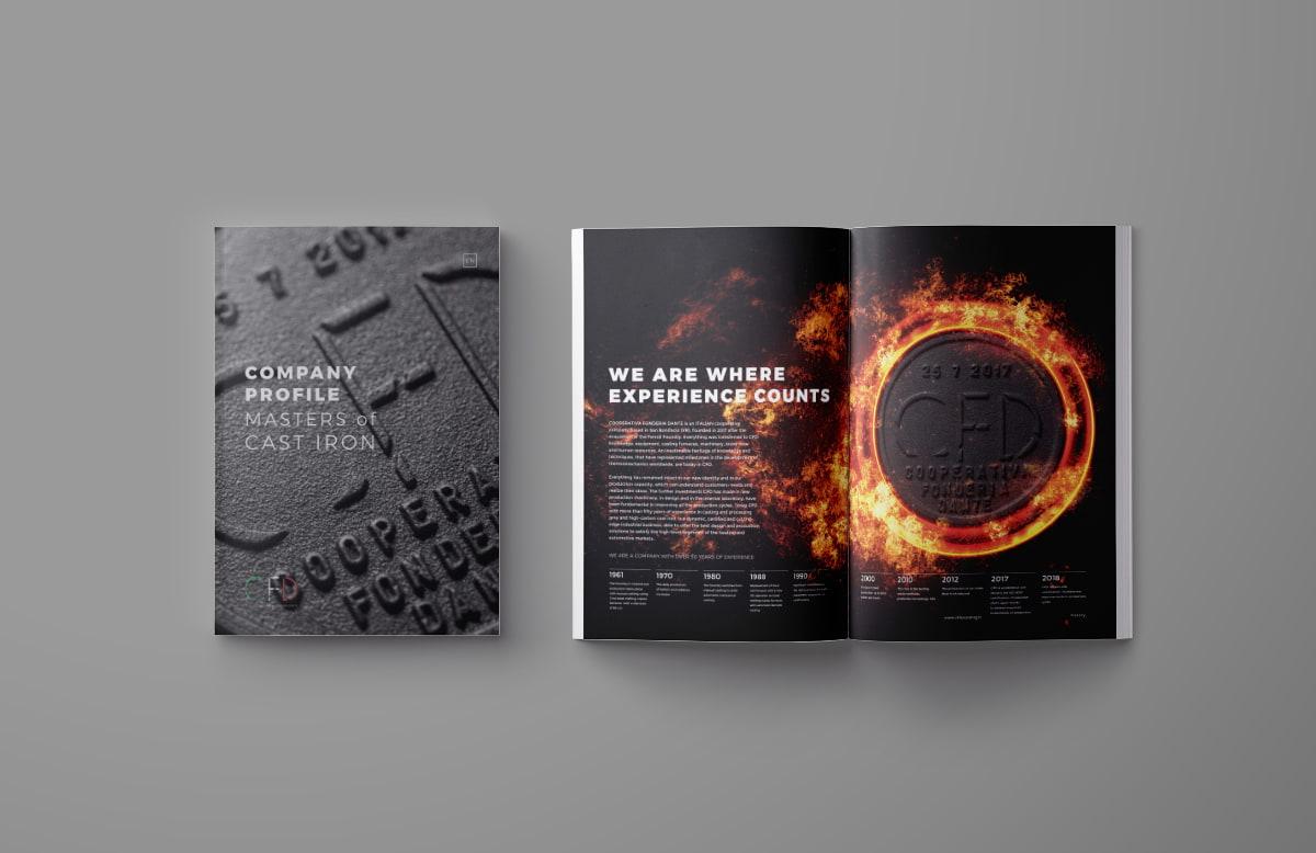 Studio grafica Verona - Catalogo CFD Cooperativa Fonderia Dante   OIS