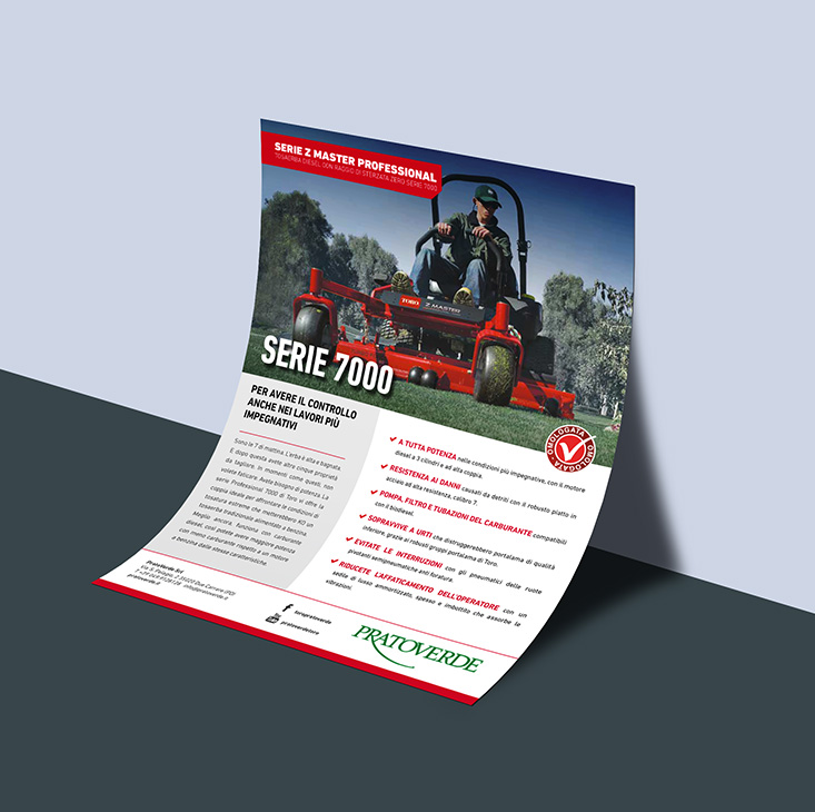 Studio grafico flyer prodotto
